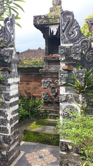 Innenhof einer balinesischen Siedlung
