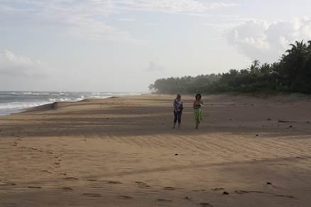 Sandstrand von Stadt Negombo