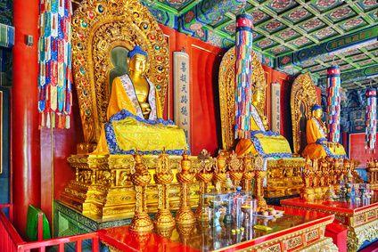 Yonghe Tempel Innenansicht